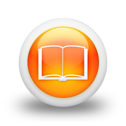 105519 3d glossy orange orb icon culture book3 open